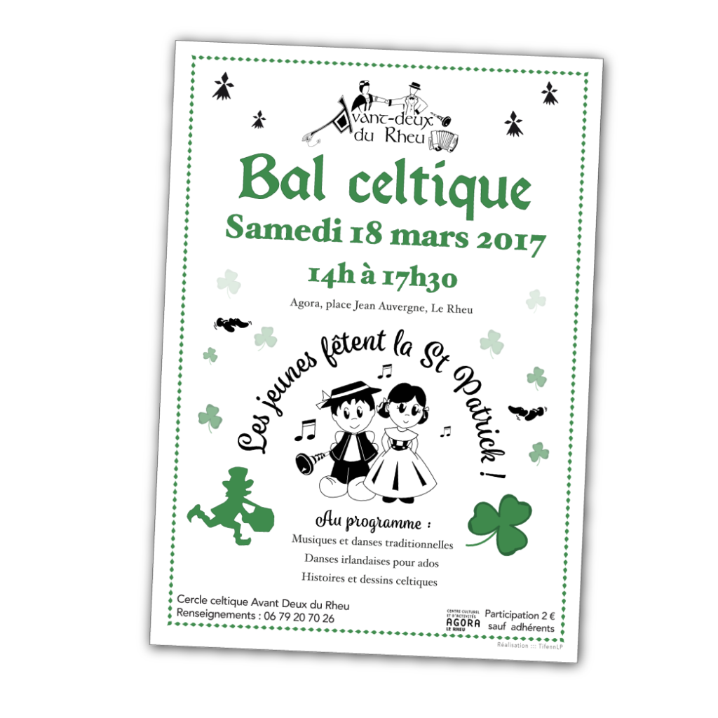 Association Avant Deux du Rheu - Affiche Bal Celtique
