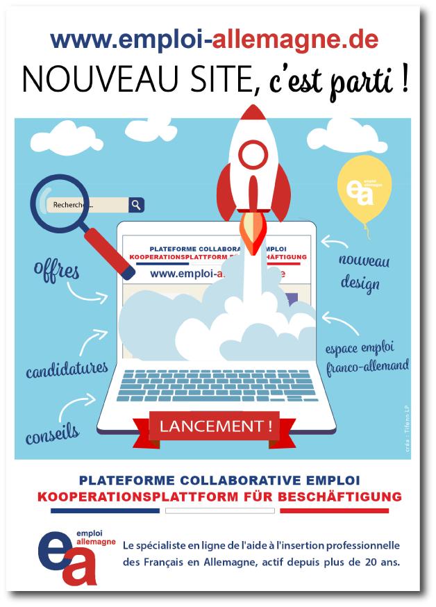 Visuel communication lancement site Internet