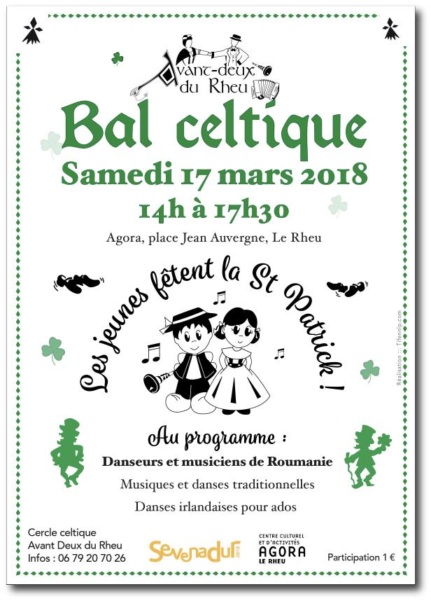 Affiche Bal Celtique en Bretagne